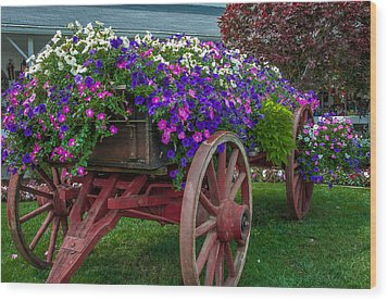 Flower Wagon Wood Print by Gene Sherrill