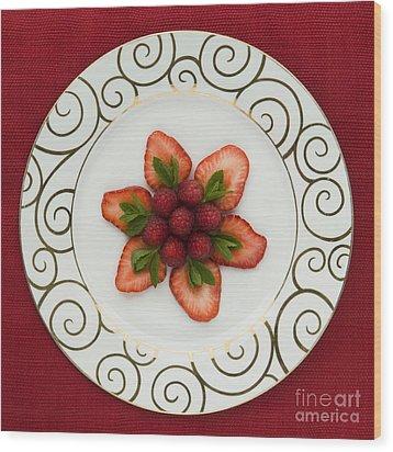 Flowering Fruits Wood Print by Anne Gilbert
