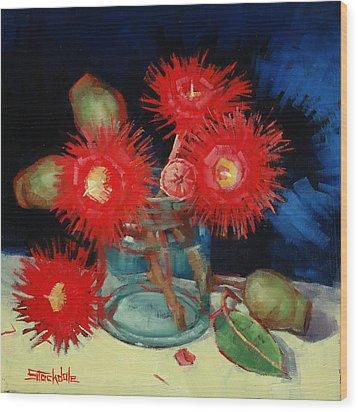 Flowering Gum Still Life Wood Print