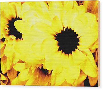 Flowers 2 Wood Print by Jason Michael Roust