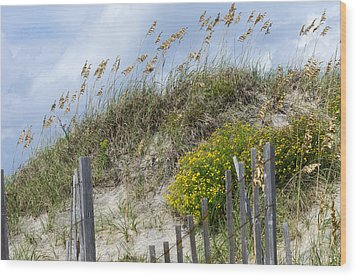Wood Print featuring the photograph Flowers And Sea Oats by Gregg Southard