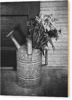Flowers At The Door  Wood Print by Jerry Cordeiro