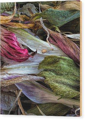 Flowers Wood Print by Bob Orsillo