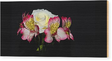 Wood Print featuring the photograph Flowers by Cecil Fuselier