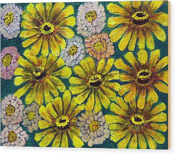 Flowers Wood Print by Don Thibodeaux