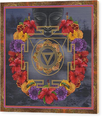 Flowers For Kali Ma Wood Print