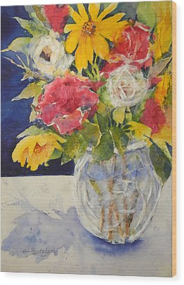 Flowers For Madeline Wood Print