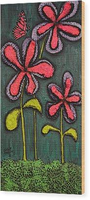 Flowers For Sydney Wood Print