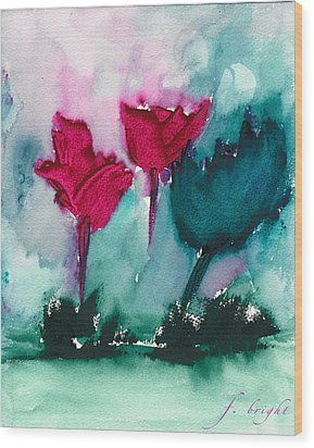 Flowers For Trees Wood Print
