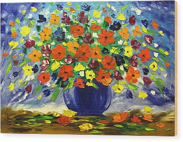 Flowers For You Wood Print by Mariana Stauffer