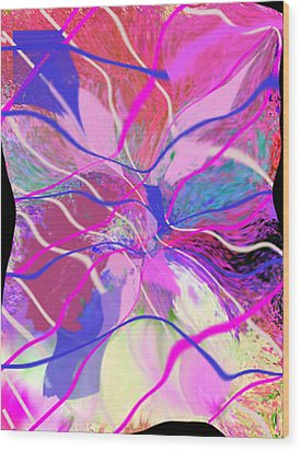 Original Contemporary Abstract Art Flowers From Heaven Wood Print by RjFxx at beautifullart com
