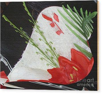 Flowers Wood Print by Gabriele Mueller