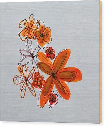 Flowers IIII Wood Print by Patricia Awapara