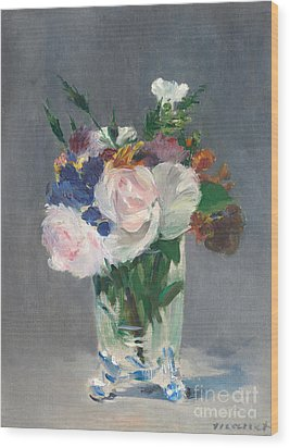 Flowers In A Crystal Vase Painting By Edouard Manet