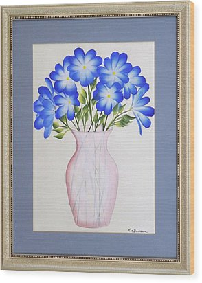 Flowers In A Vase Wood Print by Ron Davidson