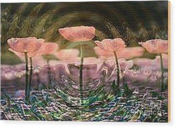 Flowers In Heat Wood Print by PainterArtist FIN