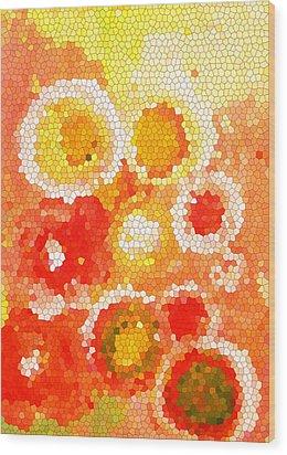 Flowers Iv Wood Print by Patricia Awapara