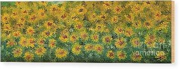 Flowers Wood Print by Loredana Messina