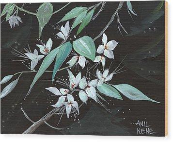 Flowers N Petals Wood Print by Anil Nene