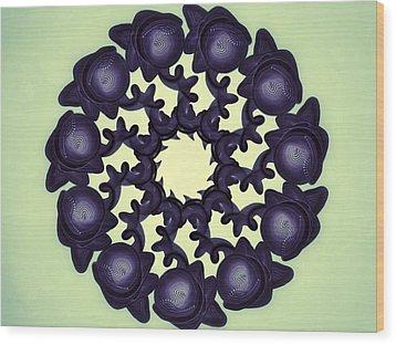 Flowers Of Algebra Wood Print by Michael Jordan