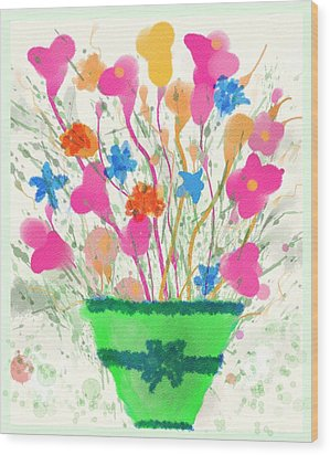 Wood Print featuring the digital art Flowers Of Spring by Mary M Collins