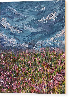 Wood Print featuring the painting Flowers Of The Field by Meaghan Troup