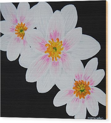 Wood Print featuring the painting Flowers Of The Night by Celeste Manning