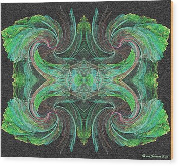 flowers on Venus Tile Wood Print