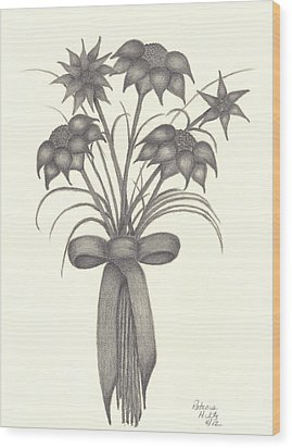 Flowers Wood Print by Patricia Hiltz