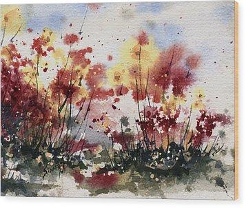 Flowers Wood Print by Sam Sidders