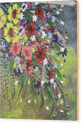 Flowers Wood Print by Shilpi Singh