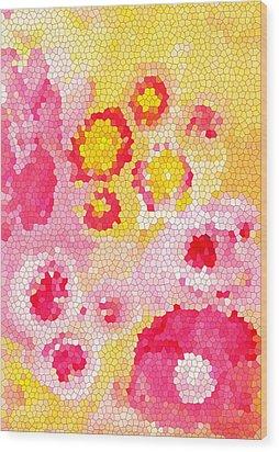 Flowers Vii Wood Print by Patricia Awapara