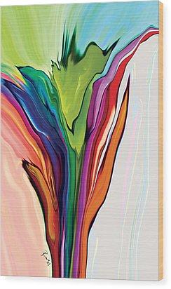 Flowery 5 Wood Print
