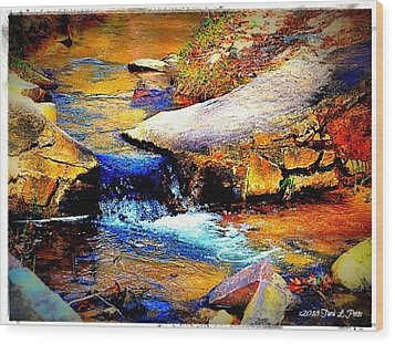 Wood Print featuring the photograph Flowing Creek by Tara Potts