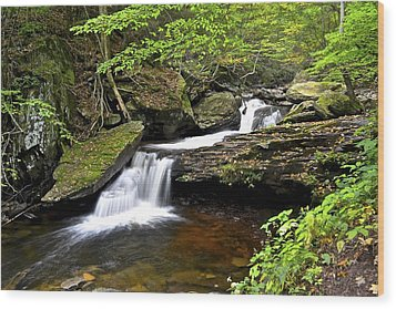 Flowing Falls Wood Print by Frozen in Time Fine Art Photography