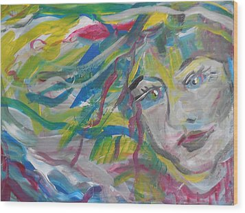 Flowing Girl Wood Print by Made by Marley