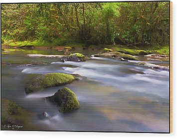 Flowing Serenity Wood Print by Tyra  OBryant