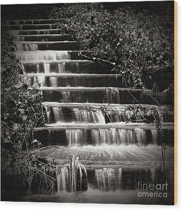Flowing Stairs Wood Print by Charmian Vistaunet
