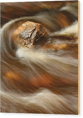 Flowing Stream Wood Print by Acadia Photography