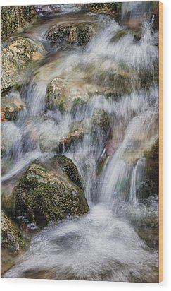 Flowing Waters Wood Print