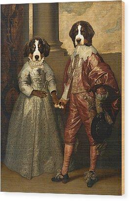 Floyd Of Orange And Lottie Stuart Wood Print by Jaime De Haas