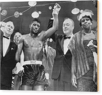 Floyd Patterson After Win Wood Print by Retro Images Archive
