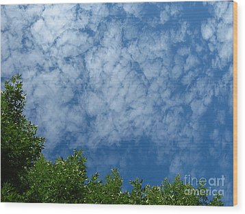 Fluffy Summer Clouds 1 Wood Print