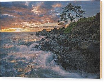 Fluid Motion Wood Print by Hawaii  Fine Art Photography