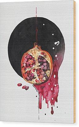 Wood Print featuring the painting Fluidity Vii - Elena Yakubovich by Elena Yakubovich