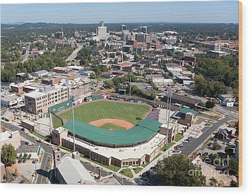 Fluor Field At The West End Greenville Wood Print by Bill Cobb
