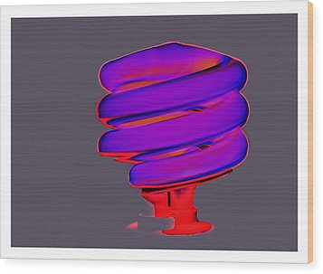 Fluorescent Wood Print
