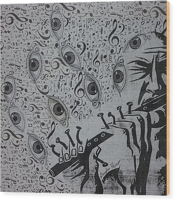 Flute Concerto In Eye Minor Wood Print by Douglas Fromm