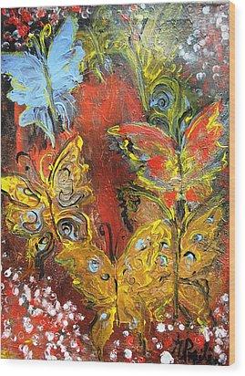 Fluttery Butterflies Wood Print