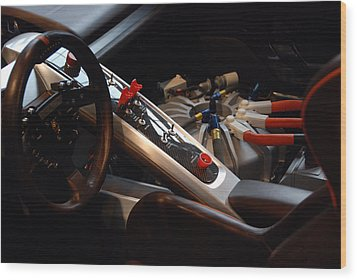 Wood Print featuring the photograph Flux Capacitor by John Schneider